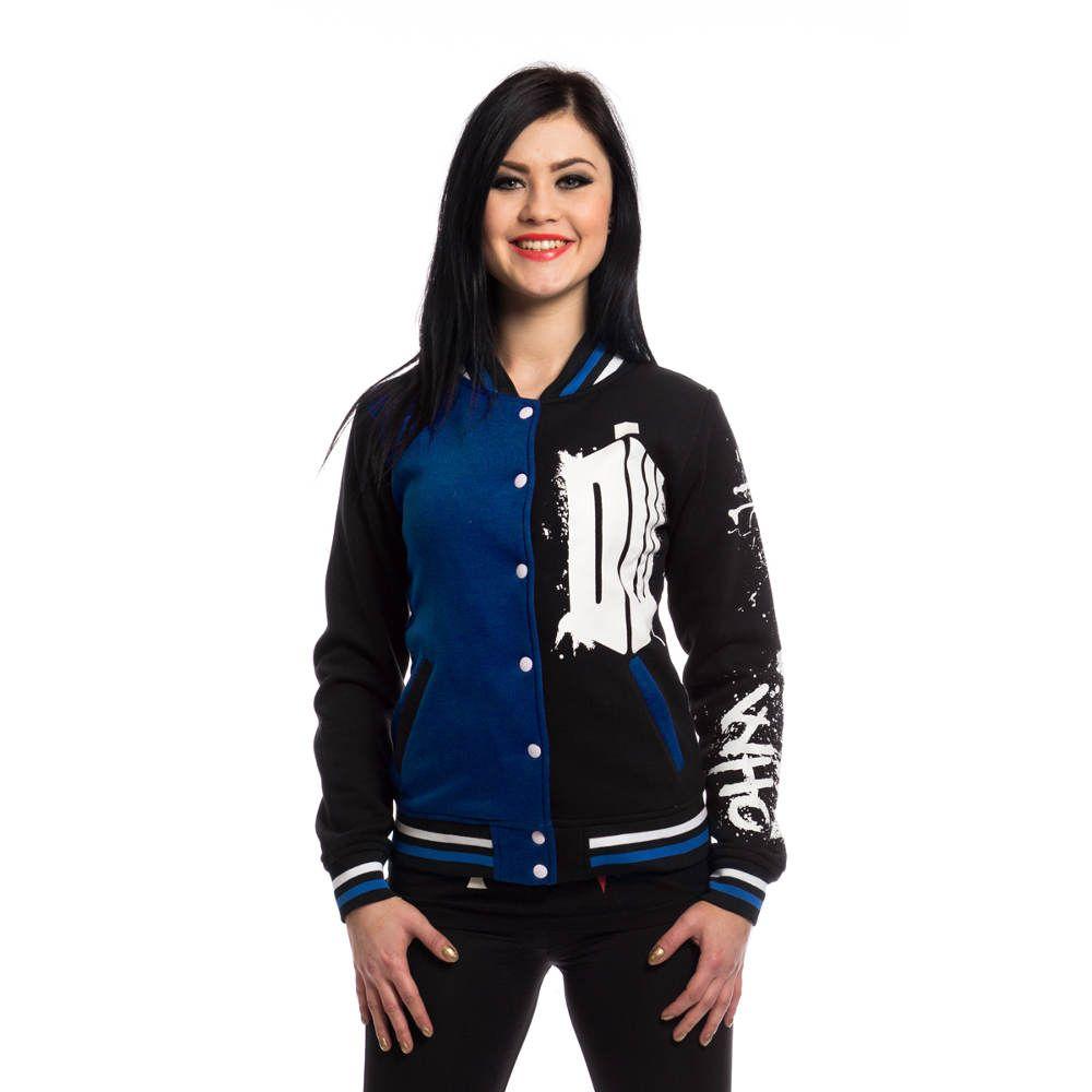 Doctor who street dames varsity jacket zwartblauw superhelden