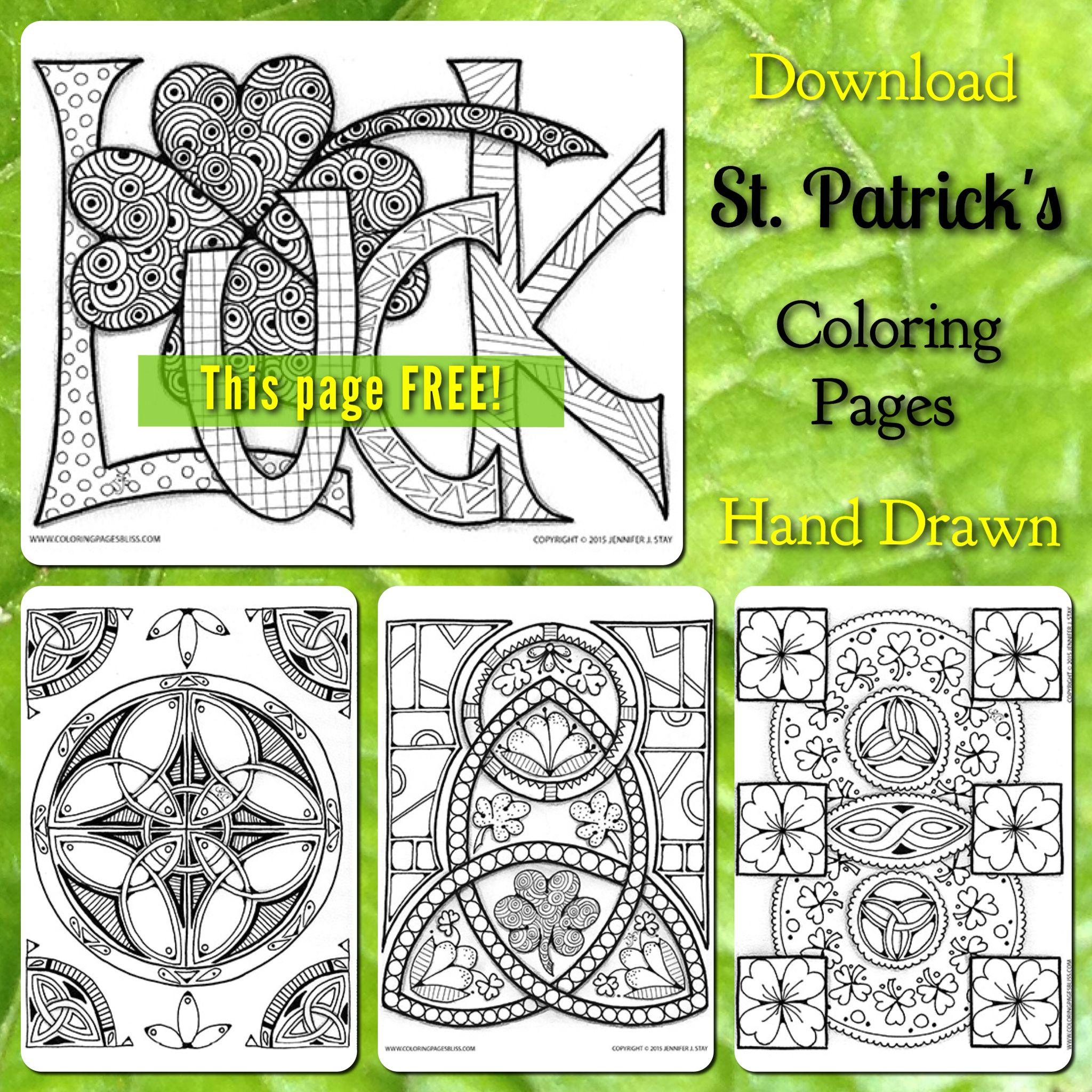 St. Patrick\'s Gift | Adult Coloring Pages | Pinterest | Saints ...