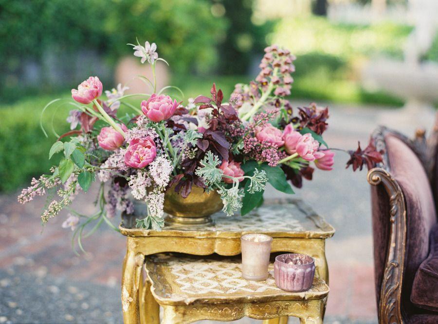 Wed Me Wednesday Lilacs + Rustic Wood Purple garden