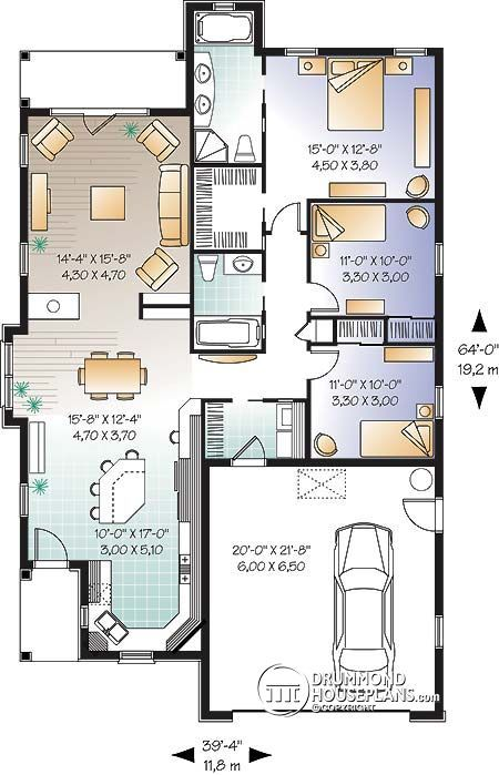 House Plan Fullerton No 3248 Single Storey House Plans Bungalow House Plans Narrow House Plans