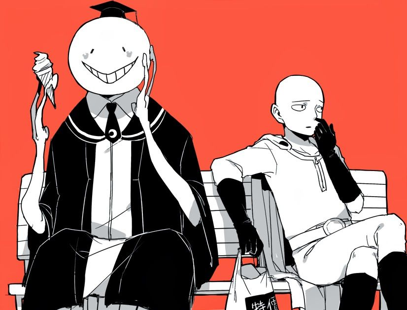 Maybe if he can Koro-Sensei stop for a Second with his Mind ...