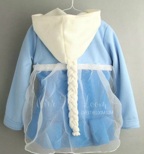 A really adorable coat in one of the favorite Disney characters. The tulle overlay at the back and the braid are removable. The jacket is fully lined.
