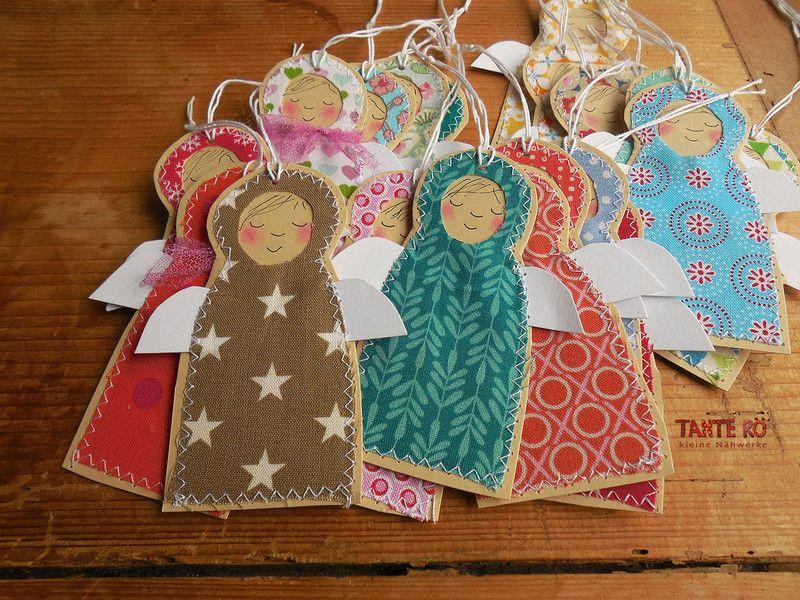 Geschenkanhänger - Anhänger . Engelchen - ein Designerstück von TanteRoe bei DaWanda