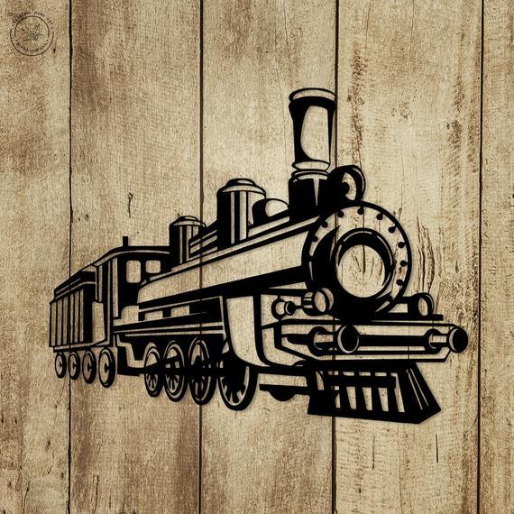 Metal Wall Art Steam Train Locomotive Home Decor Metal Wall
