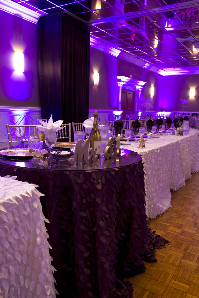black white purple wedding reception%0A     Adorable Sweetheart Table Decor Ideas   Sweetheart table  Reception and  Sequins