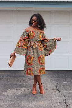 African Dresses, Ankara Dress, African Print Dress,  African Fashion, African Clothing, Off the Shoulder Dress #afrikanischemode