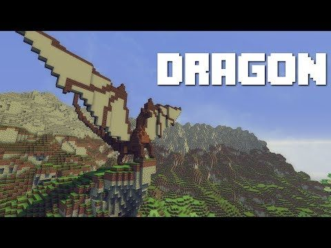 Minecraft: How To Build A Dragon - YouTube