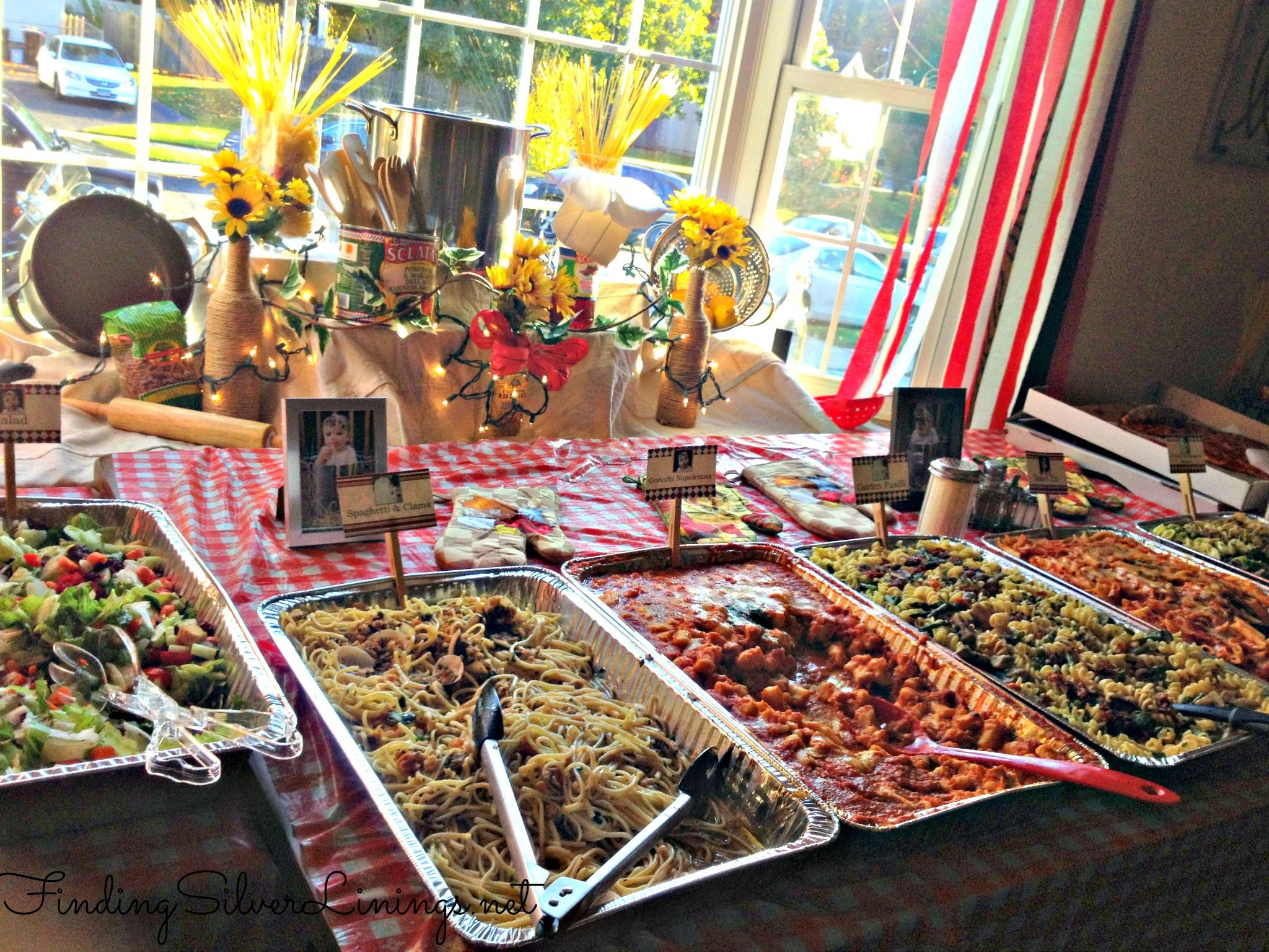 Max 39 s italian themed birthday party italian themed for Italian buffet