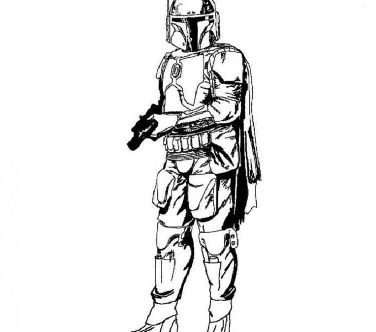 Star Wars Coloring Pages Boba Fett Star Wars Colors Star Wars Starfighter Star Wars Clone Wars