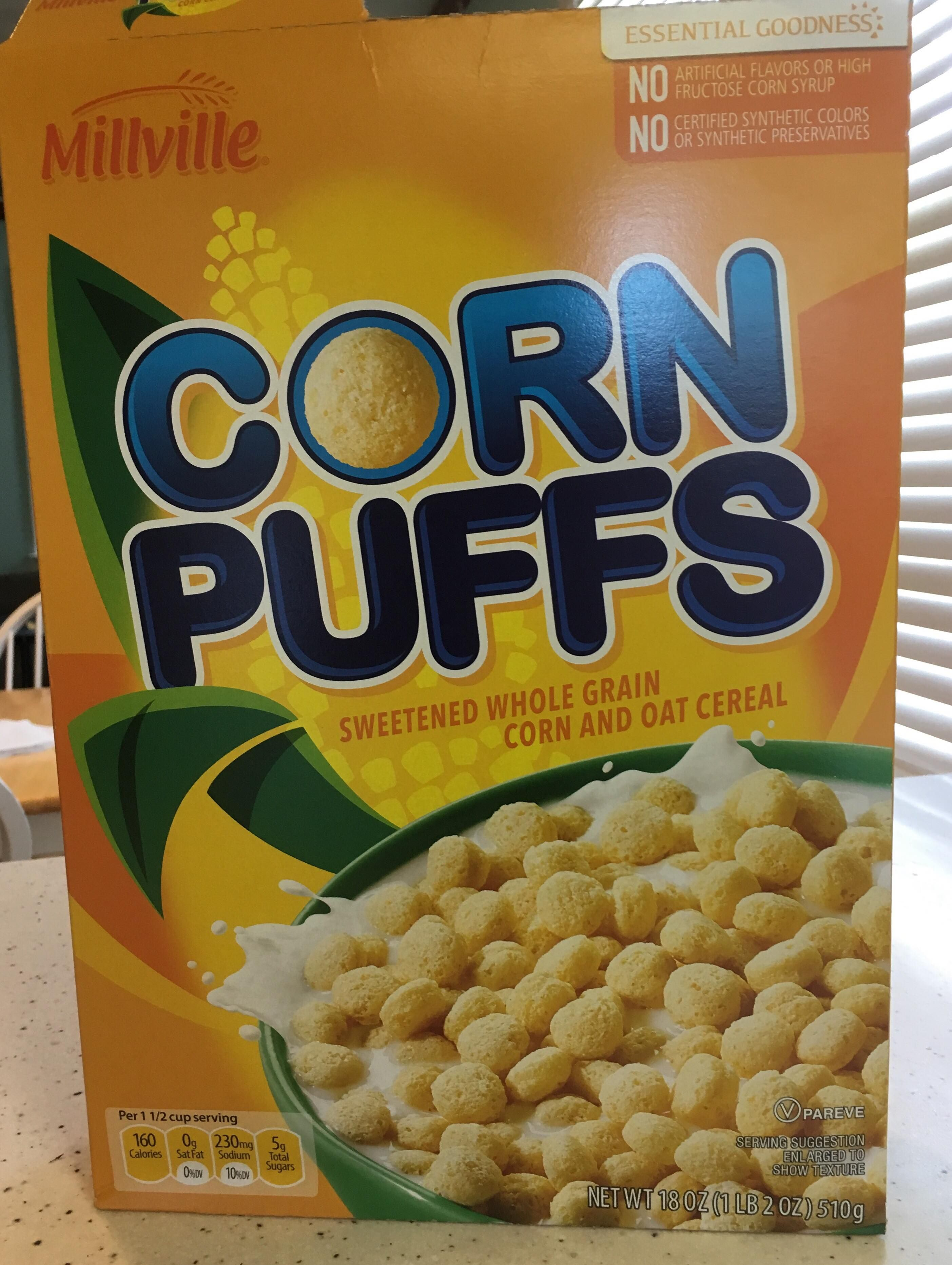 Millville Corn Puffs Corn Puffs Oat Cereal Special Recipes