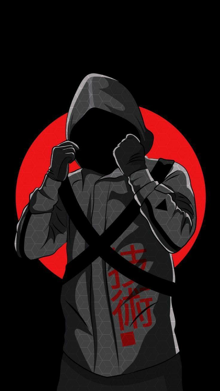 Menn with hoodie