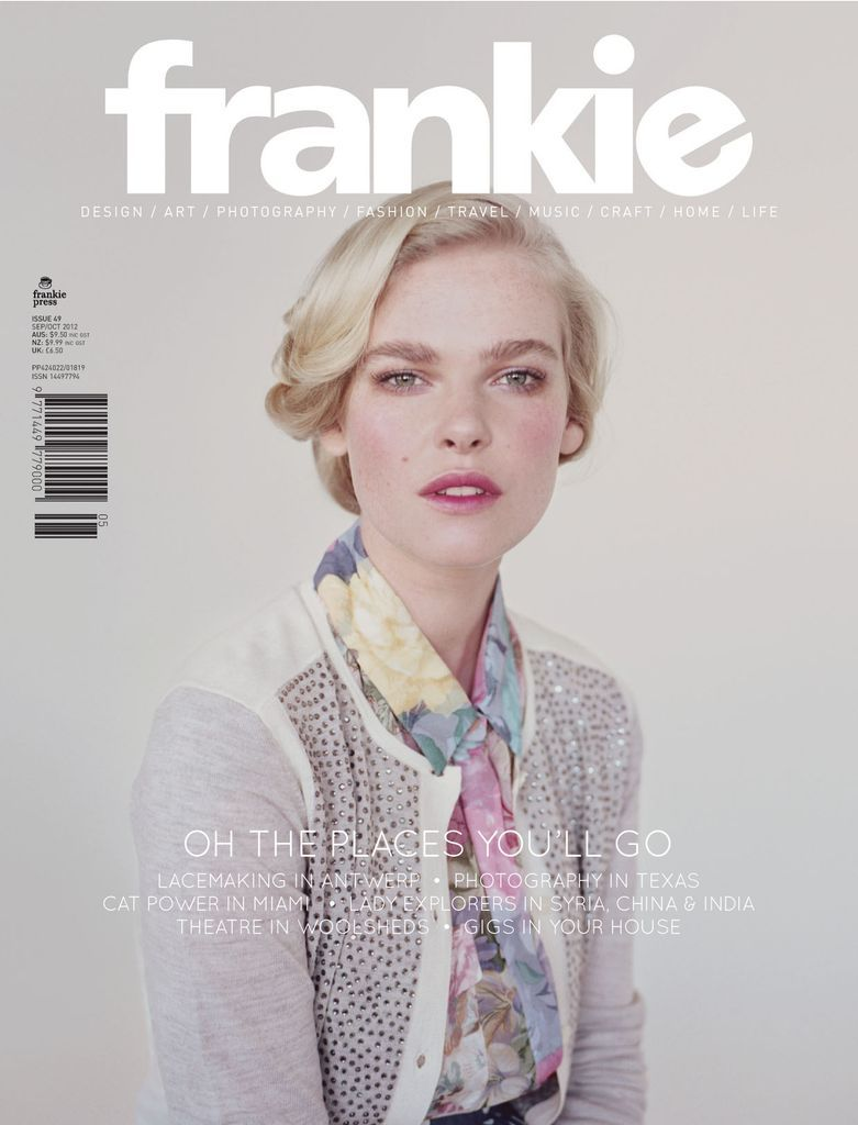 frankie Magazine is an Australian bi-monthly with a difference. A niche-style title with mainstream appeal – filled with fashion, art, craft, music, cuteness and real-life inspiration – frankie is dedicated to uncovering the newest trends, celebrating the latest creative talents and delivering sharp, honest, laugh-out-loud stories their readers can relate to.
