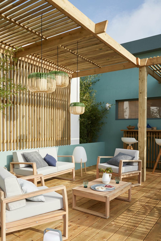 Une cour habillée de bois en 2020 | Salon d extérieur