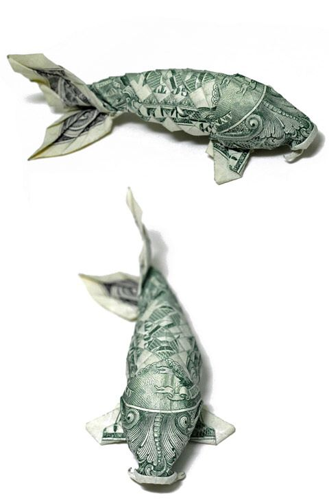 Dollar Koi Carp Origami Instructions Paper Craft Origami