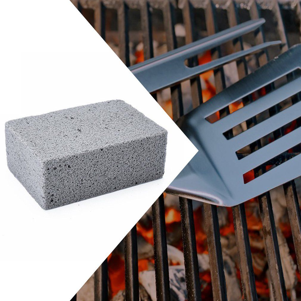 Bbq grill cleaning stone non slip handheld odorless