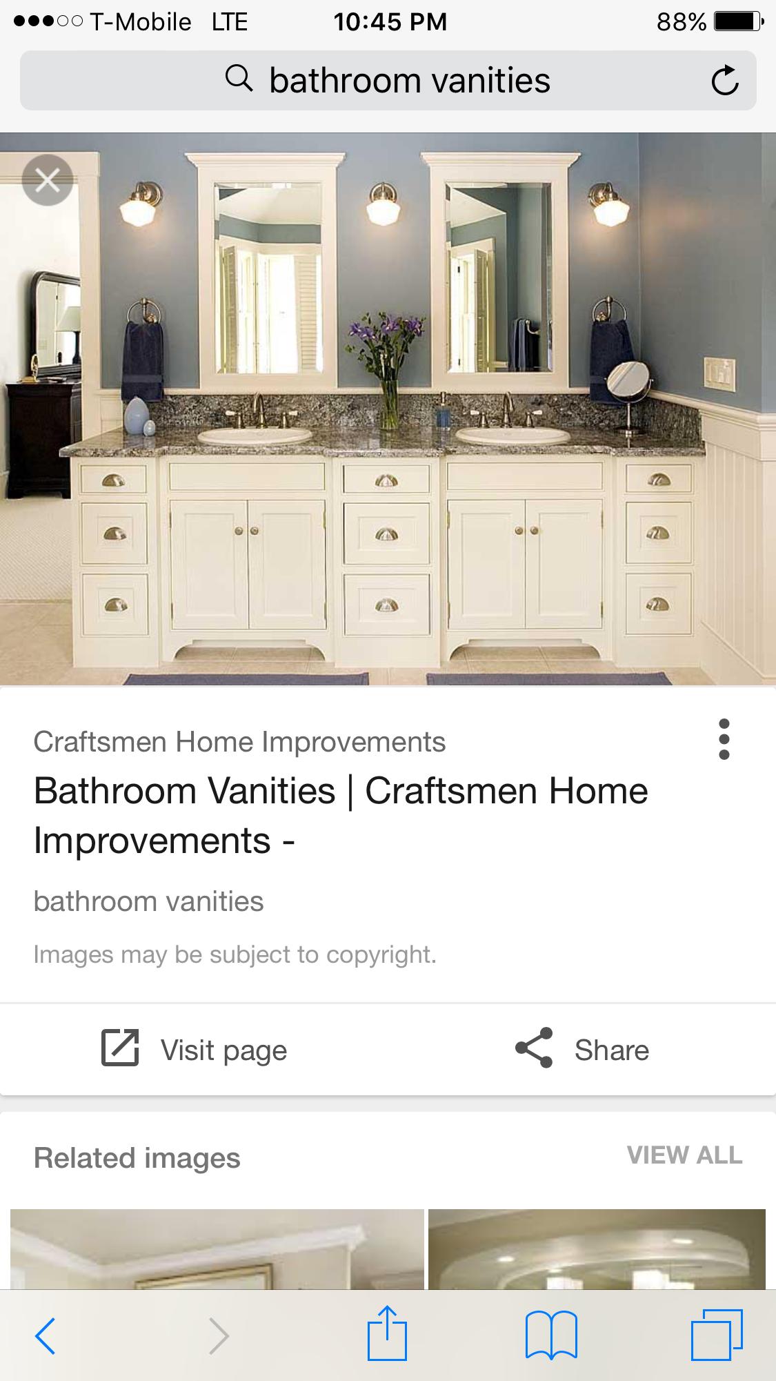 Pin By Kathi On Bathroom Craftsman House Bathroom Vanity Vanity