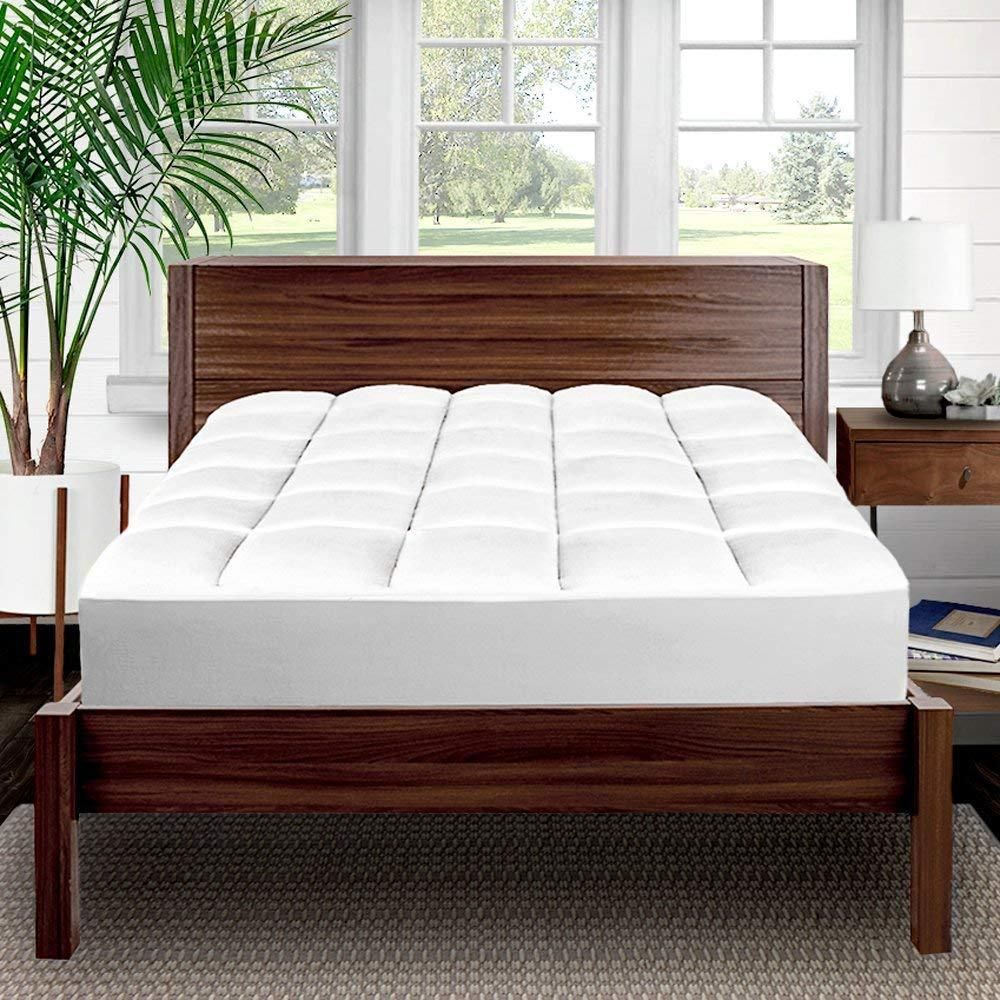 Cooling Pillow Top Mattress Pad SuperSoft Breathable