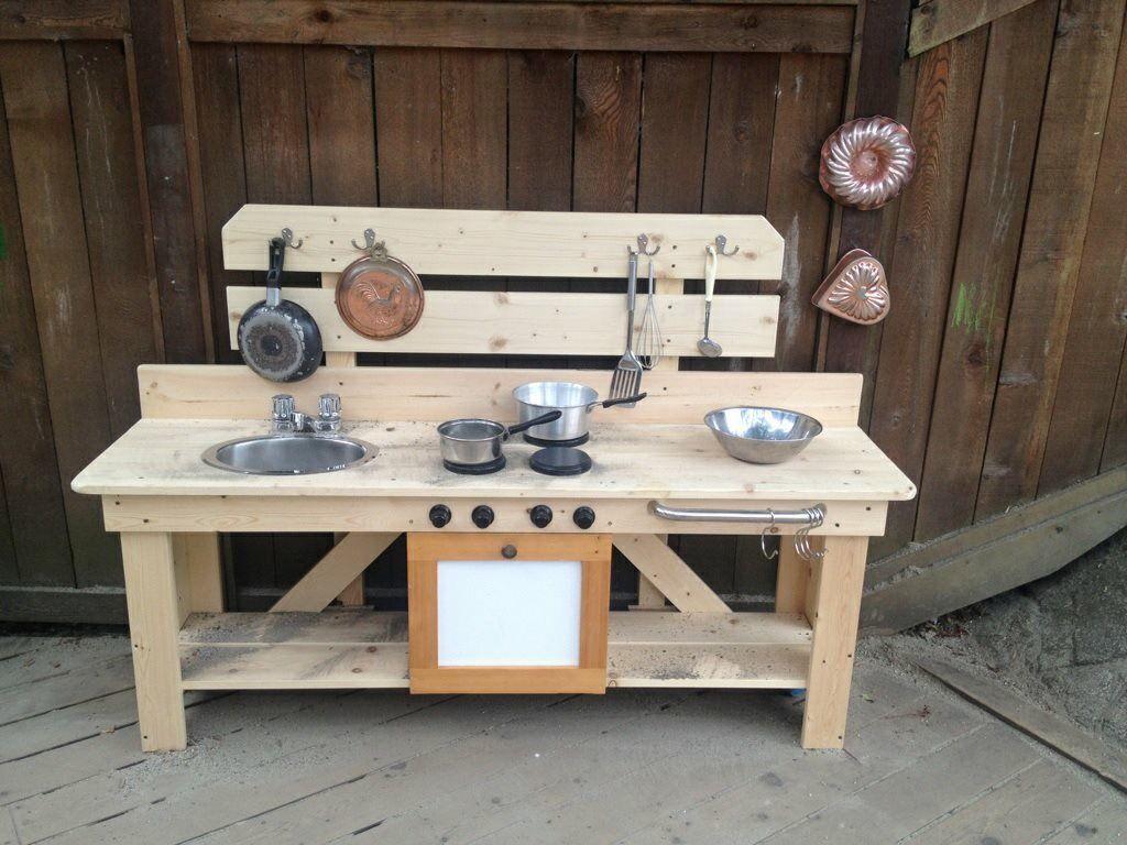 Mud kitchen upcycled pallet mud kitchen pallet kitchen counter with - Castleview Child Care Centre Mud Pie Kitchen