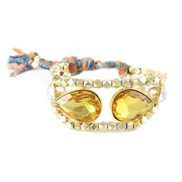 Dueling Daughters Bracelet in Sunset with Topaz Crystals