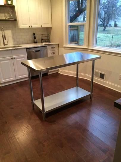 Sportsman Stainless Steel Kitchen Utility Table Sswtable At The Home Depot Mobile Kitchen Work Tables Kitchen Redo Kitchen Utility Tables