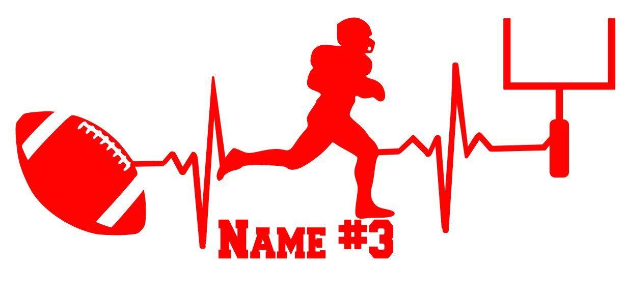 Football helmet name and number iron on decal custom