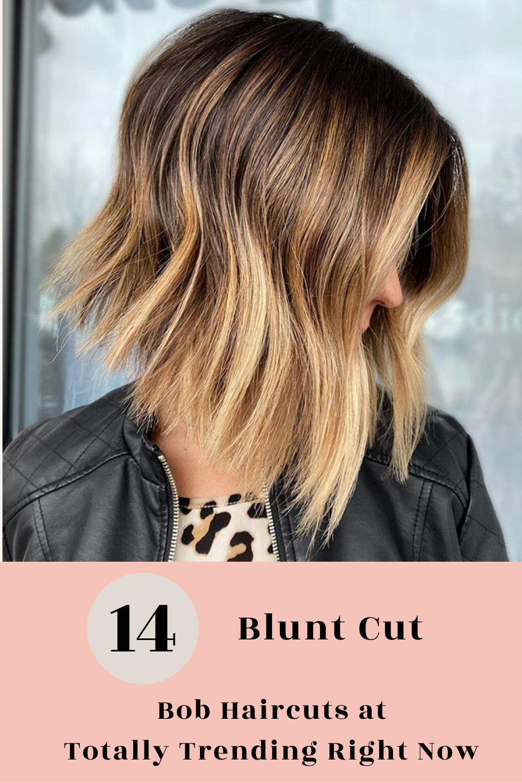 19++ Blunt cut bob with color trends