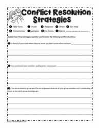 Conflict Resolution Worksheet | therapy | Conflict ...