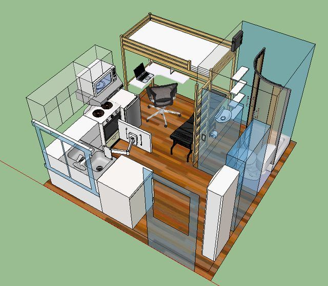 Interior Design For A Fully Furnished Tiny Home Tiny House Design Small House Micro House