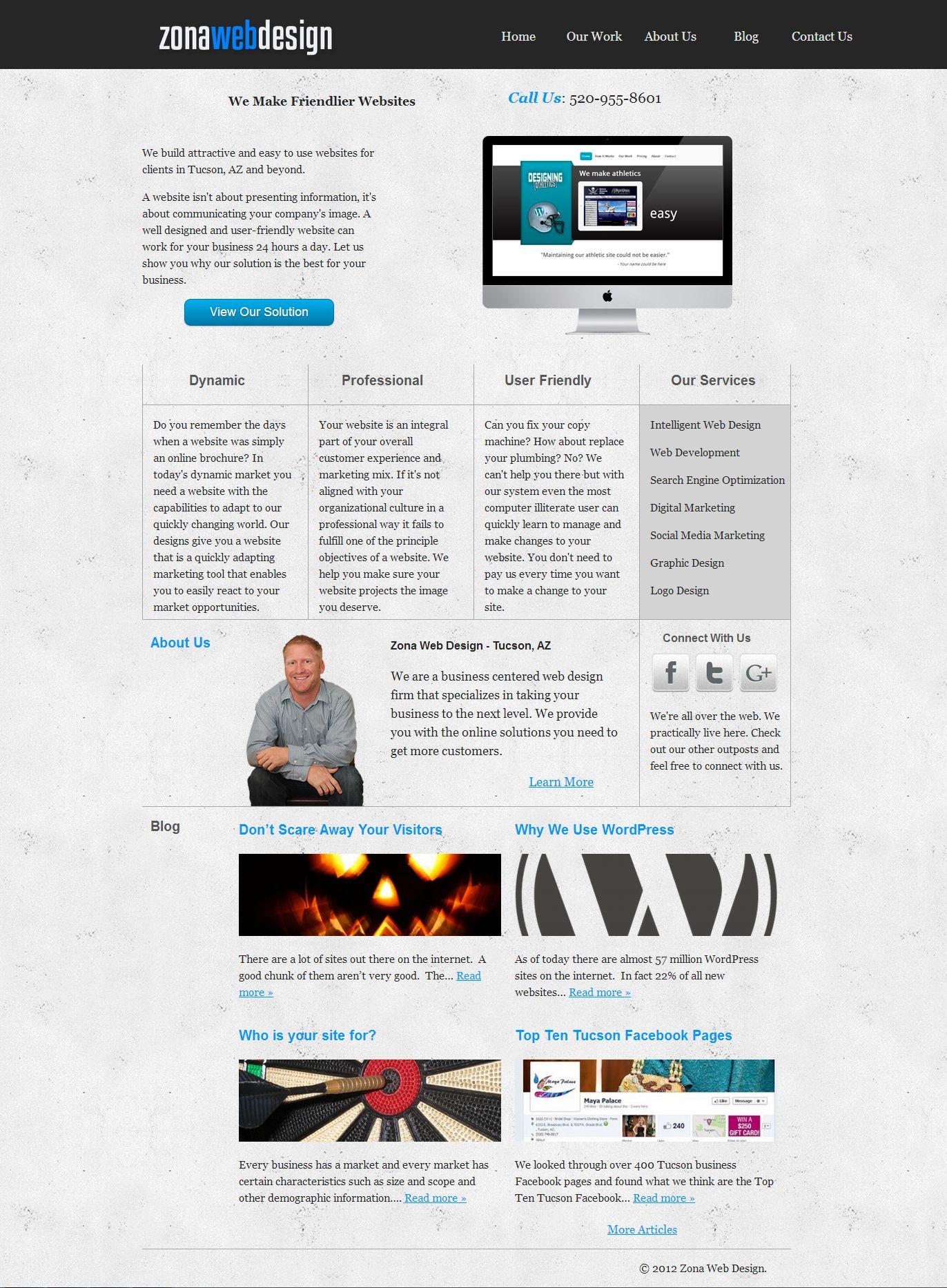 Http Www Zonawebdesign Com Tucson Wed Design Firm Web Design Marketing Design Web Design Inspiration