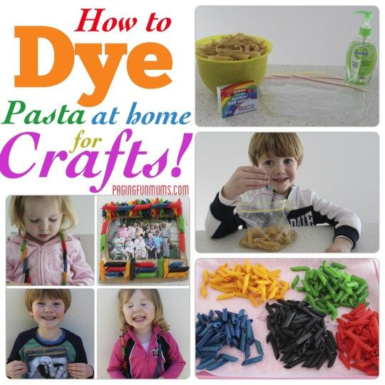 How to dye Pasta at home for Crafts! - Paging Fun Mums
