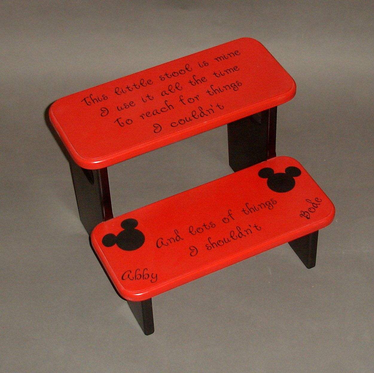 Mickey Mouse Step Stool with Little Stool Is Mine I Use It All The ...