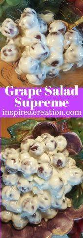 Photo of Grape Salad Supreme Grape Salad Supreme is a deliciously easy sa