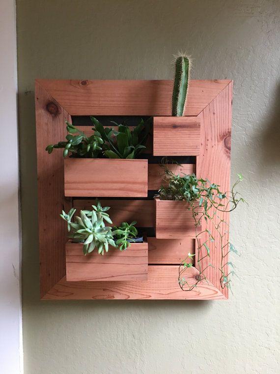 Modern Vertical Succulent Garden, Indoors Or Outdoors, Living Wall Planter,  Garden Wall Art