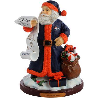 Denver Broncos Nice List Santa Figurine
