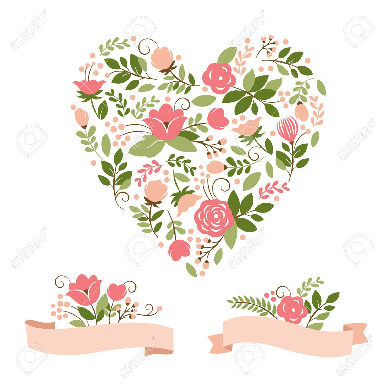 Heart stock illustration royalty free illustrations stock clip art - Floral Bouquets And Heart Royalty Free Cliparts Vectors And Stock Illustration Pic 22504590