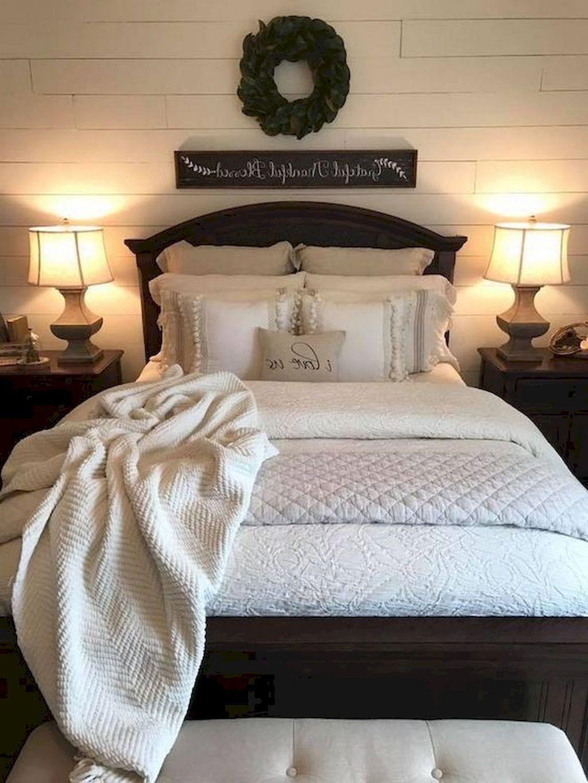 80 Simply Farmhouse Master Bedroom Design Ideas You're ...