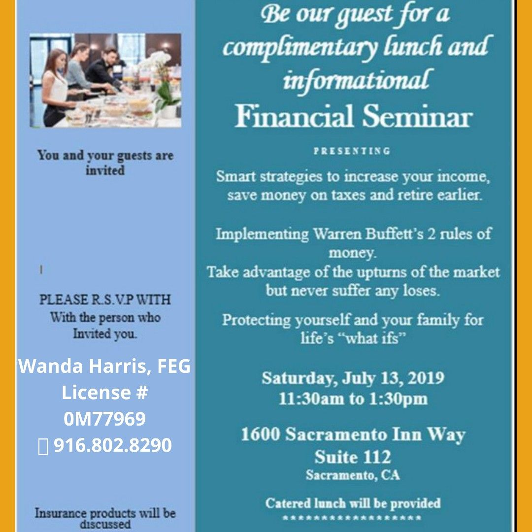 Complimentary lunch and informational, financial seminar ...