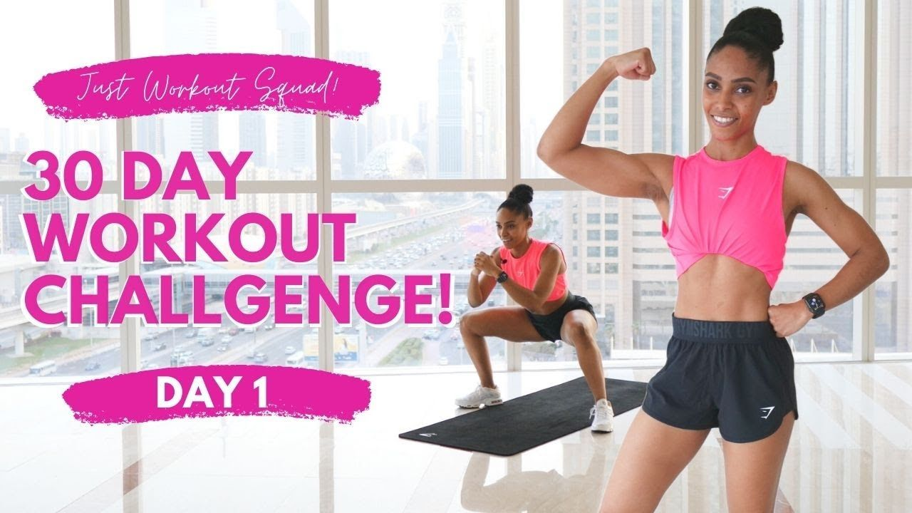 30 Day Workout Challenge I Am In Control Day 1 No Equipment Real Time Workout Youtube 30 Day Workout Challenge 30 Day Fitness Workout Challenge