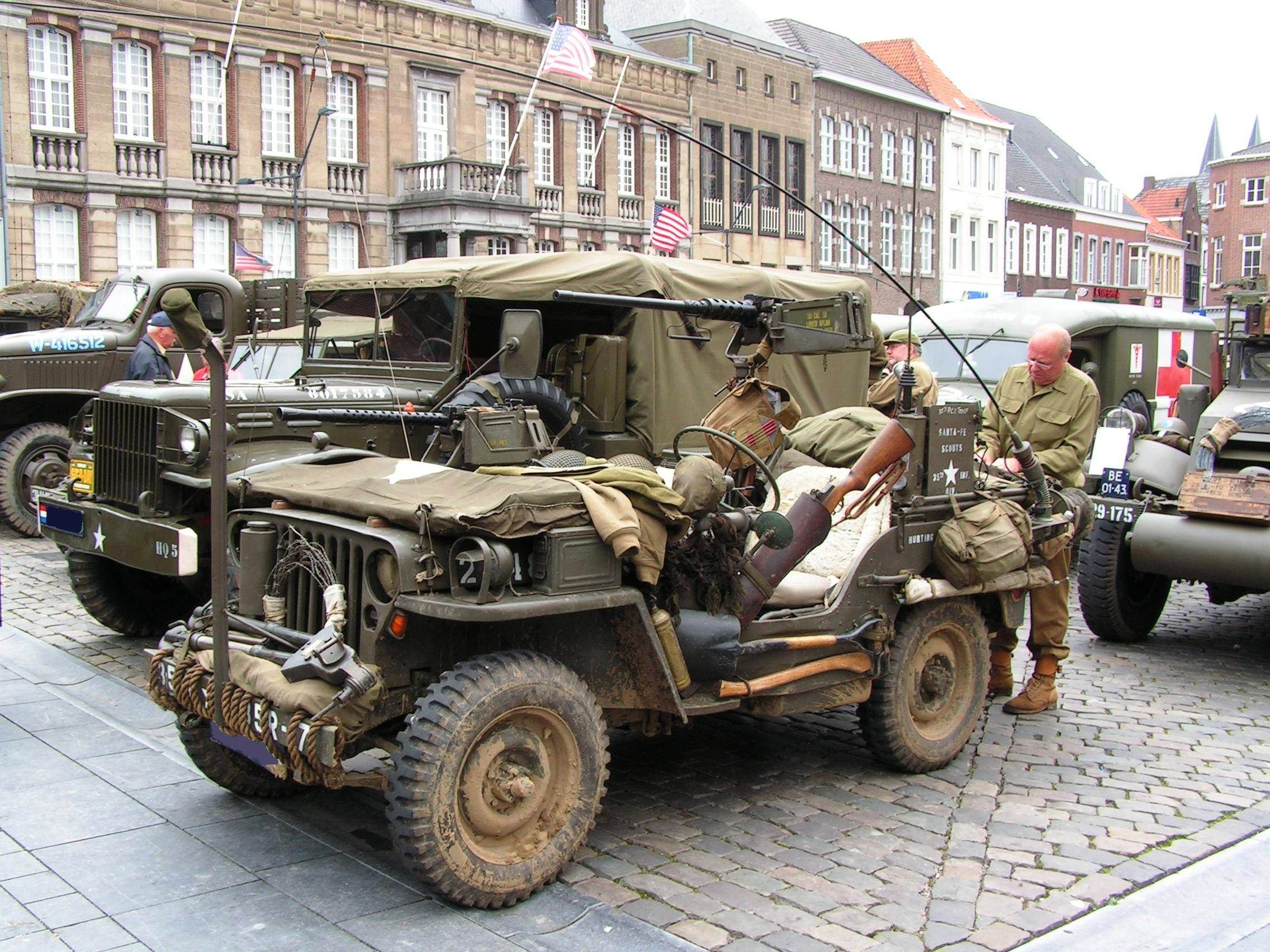 Army Jeep think of what four guy s and a simple e along could