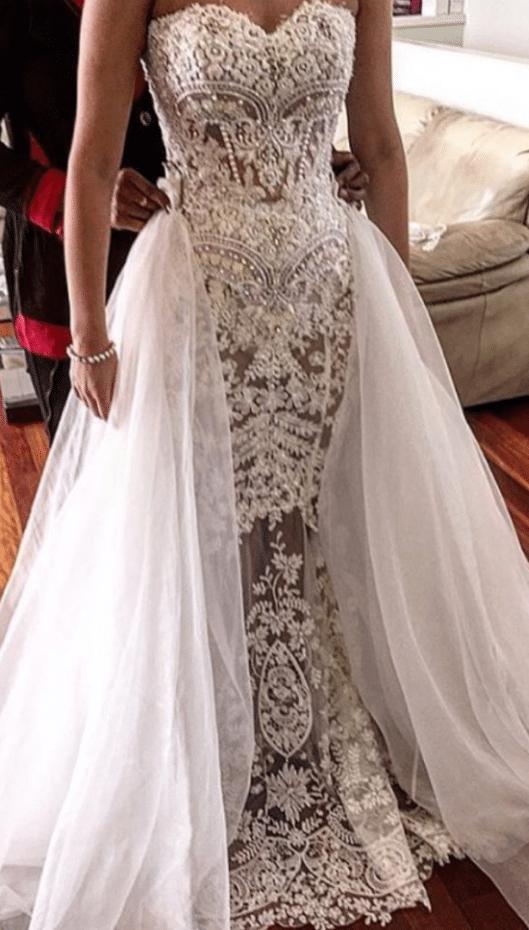 Strapless haute couture wedding dresses Darius