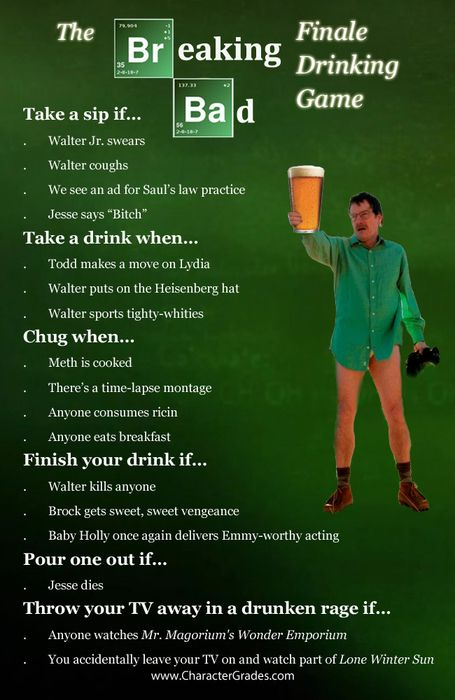 bf7b9387dc53cc6c451508343bbadd95 breaking bad breaking bad finale drinking game character