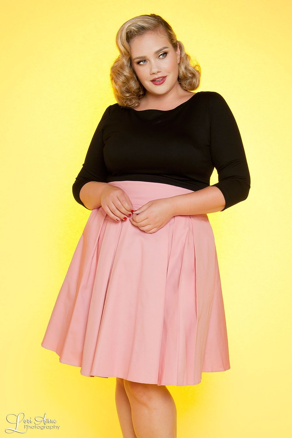 Little Jun Skirt in Pale Rose Pink - Plus Size | Skirts ...