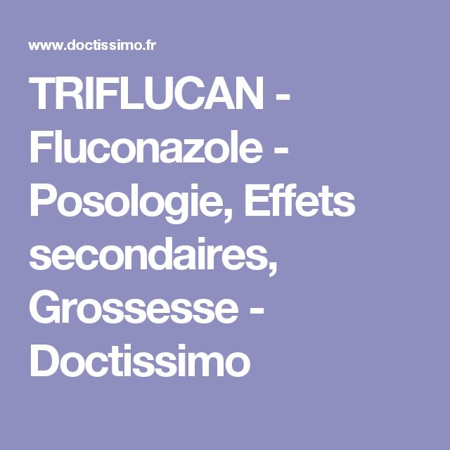 triflucan effets indésirables