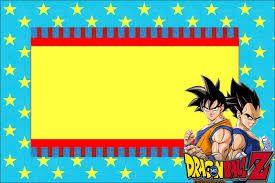 Resultado De Imagen Para Invitaciones Dragon Ball Z Para