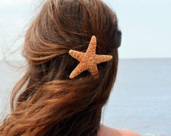 Baja Starfish Hair clip Barrette or Pinch Clip by PoppyCoast