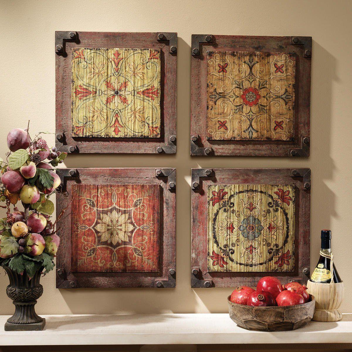 Design toscano florentine floral wood wall