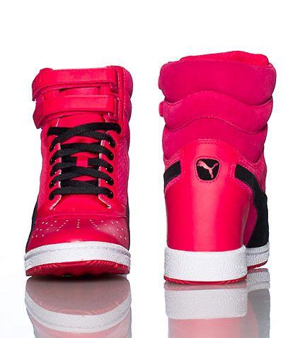 Puma Sky Wedge Sneakers Pink Wedge Sneakers Pinterest
