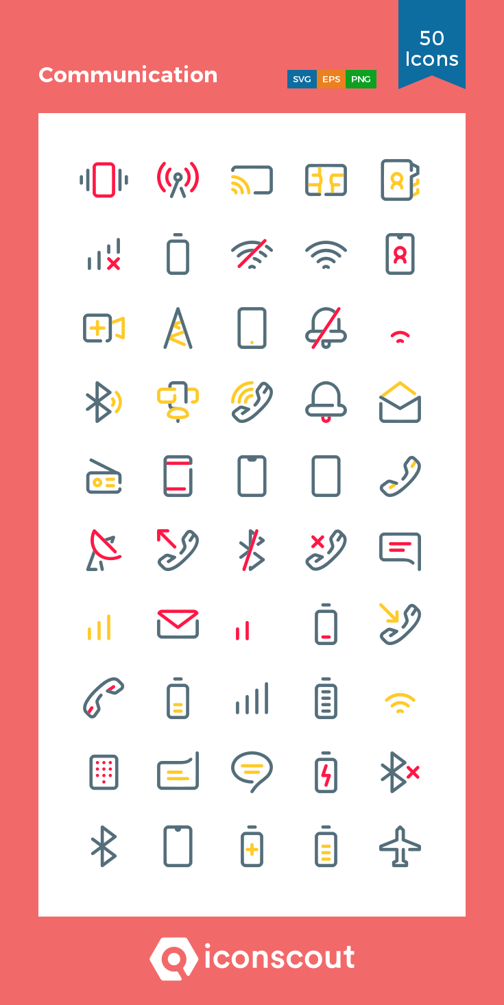 Download Communication Icon pack Available in SVG, PNG