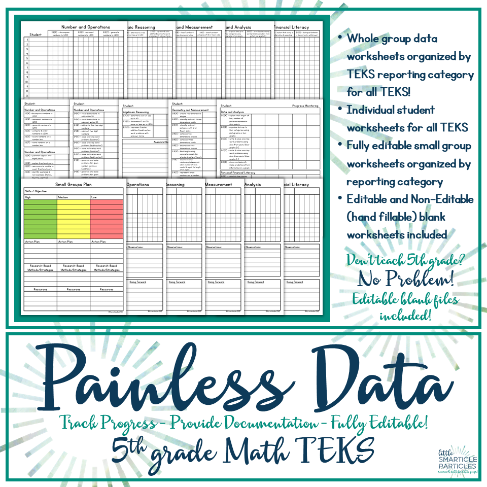 Data Tracking 5th Grade Math TEKS | Data tracking, Maths and Worksheets