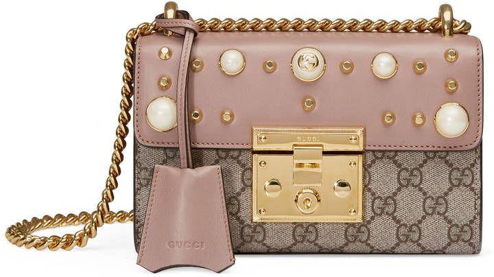 847508f68be9b5 Gucci Padlock small GG studded shoulder bag | Bags | Bolsos ...